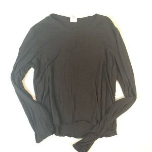 Full Tilt Black Long Sleeved Ribbed Shirt
